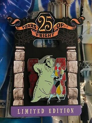 Disney Nightmare Before Christmas 25 Years Fright Oogie Boogie Sally Pin LE 4000