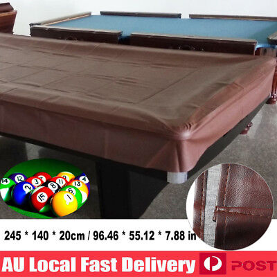 QUALITY 8ft foot Pool Snooker Billiard Table Cover Brown Fitted Heavy Duty Vinyl