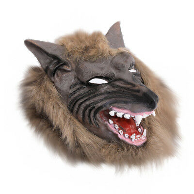 Faux Werewolf Mask Wolfman Masks Latex Costume Prop Halloween Novelty Wolf Mask