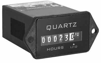 Trumeter Hour Counter, 6 digits, Mechanical, Spade Terminal Connection, Voltage,