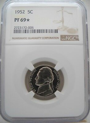 1952 Ngc Pf69 Star Proof Jefferson Pinnacle Grade & Amazing Eye Appeal!