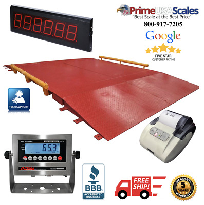 10' x 20' NTEP Legal for trade Axle Truck cargo Scale with 60,000 lbs