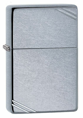 Zippo 267, 1937 Replica, Street Chrome Finish Lighter, Pipe Insert (PL)