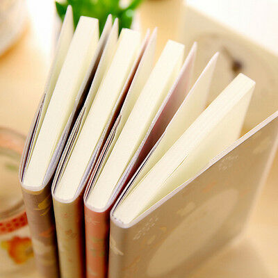 1X Charming Adorable Cartoon Small Notebook Handy Notepad Paper Notebook H&P