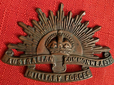 Australian Commonwealth Military Forces Cap Badge Stokes & Son Makers Mark