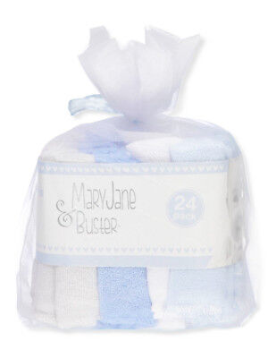 Mary Jane & Buster 24-Pack Terry Washcloths
