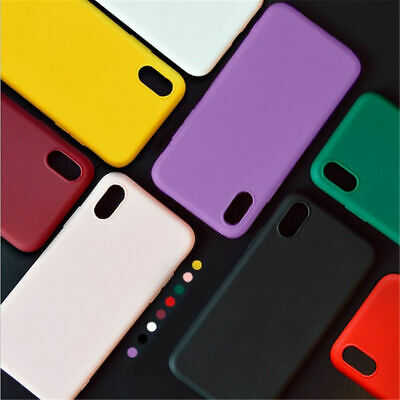 For iPhone XS X 8 7 6s Plus Luxury Candy Color Ultra Thin Soft Rubber Case Cover