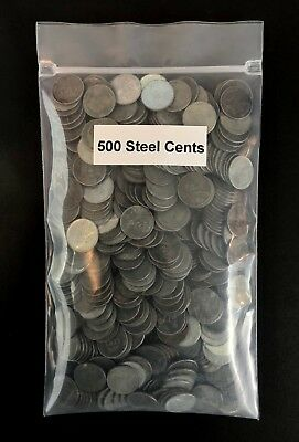 1943 Lincoln Steel Wheat Cent Pennies - 500 Coins - Estate Lot Mixed Mints
