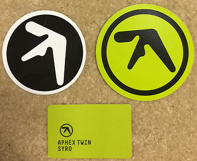 Aphex Twin Syro Drukqs stickers and promo card Richard James