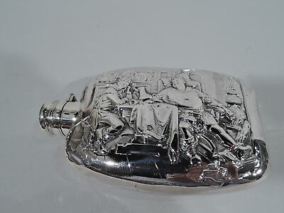 Wallace Flask - 93 - Antique Olden Days Barware - American Sterling Silver