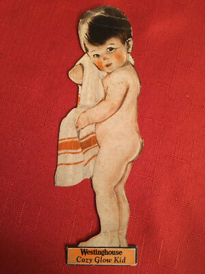 Vintage 1920's Westinghouse Electric Cozy Glow Kid With Heater On Back
