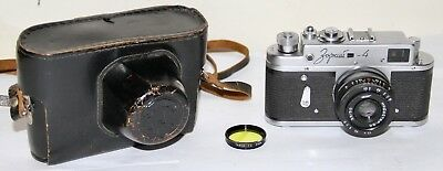 Zorki 4 With Industar 50mm f/3.5 Lens & Case Made In Russia Looks Nice / AS IS
