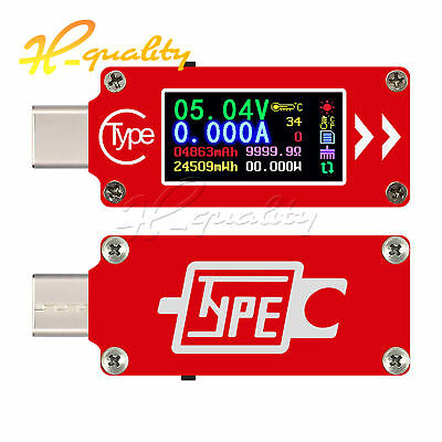 TC64 Type-C Color LCD USB Voltmeter ammeter battery PD Charge USB Tester