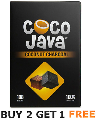 BUY 2 GET 1 FREE 108 Pcs Coco Java Hookah Charcoal Natural Coconut Hookah Coal