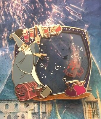 Disney Park Pack Sword And The Stone Merlin Blue Stain Glass LE 500 Pin 1 Of 3