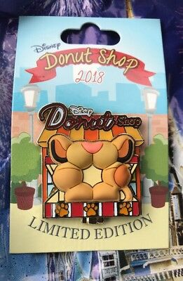 Disney Pin of the Month Disney Donut Shop Simba Pin Lion King LE 3000 NEW