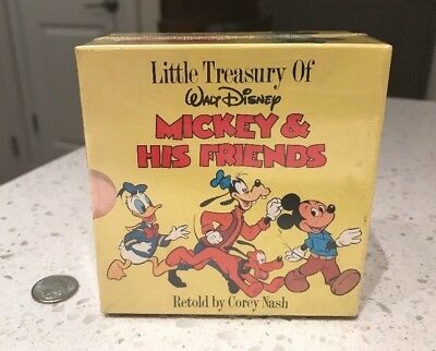 "3.5 x 3.75"" Little Treasury of Walt Disney MICKEY MOUSE & HIS FRIENDS 1986 Seal"