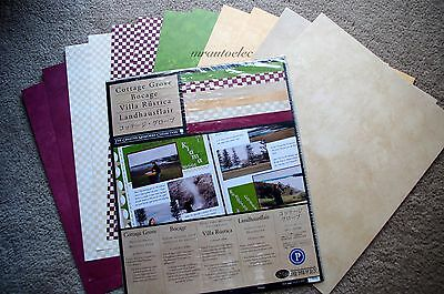 Creative Memories 10x12 Cottage Grove Photo Mounting Paper Pack BNIP