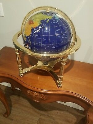 "Jewel Inlaid Desktop Globe 13"" New"