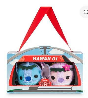 Disney Store Hawaiian Tsum Stitch Angel Box Set Lilo & Stitch Hawaii 01 Tsums