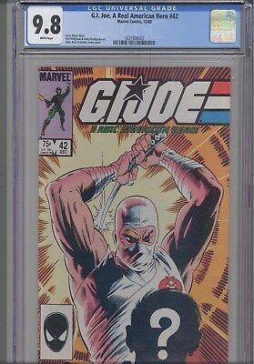 G.I. Joe #42 CGC 9.8 1986 Marvel War Comic:  Mike Zeck Cover NEW CGC FRAME