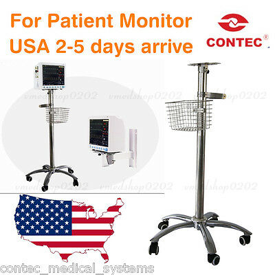 USA CONTEC Trolley Stand cart Mount Rolling Stand For portable Patient Montior