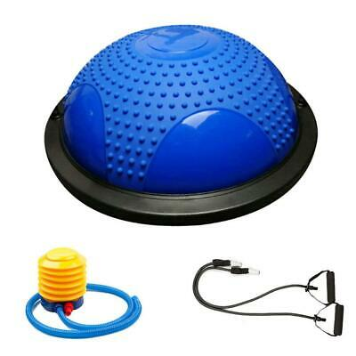 """23"""" Balance Half Ball Trainer Yoga Fitness Exercise Air Pump Massage Particle"""