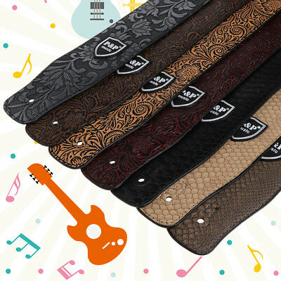 Adjustable Soft PU Leather Strap Belt for Electric Acoustic Guitar Bass