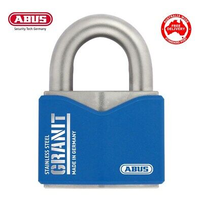 ABUS GRANIT PADLOCK 37ST55 High Security Full Stainless Steel Padlocks Free Post