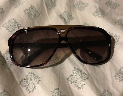 5db5c98a9a9 Louis Vuitton LV Evidence Sunglasses Brown And Gold Sunglasses 64mm