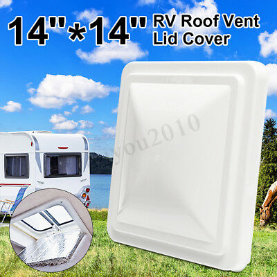 "2X White 14"" x 14"" Replacement Roof Vent Cover Camper RV Trailer UV-resistant"