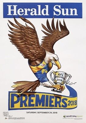2018 AFL Grand Final Premiers Poster West Coast Eagles Knight