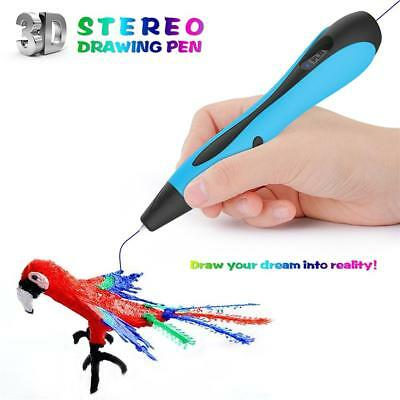 3D Printing Pen Crafting Doodle Drawing Arts Printer Modeling PLA/ABS XMAS Gift
