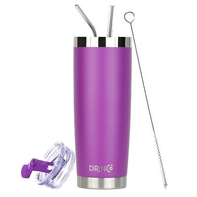 Drinco Stainless Steel Tumbler Vacuum Insulated with Splash Proof Lid 20oz Cup