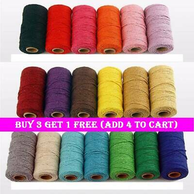 100meters/roll 2ply Bakers Twine String Cotton Cords DIY Rope for Home Decor