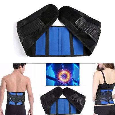 Adjustable Neoprene Double Pull Lumbar Support Back Belt Brace Pain Relief CO