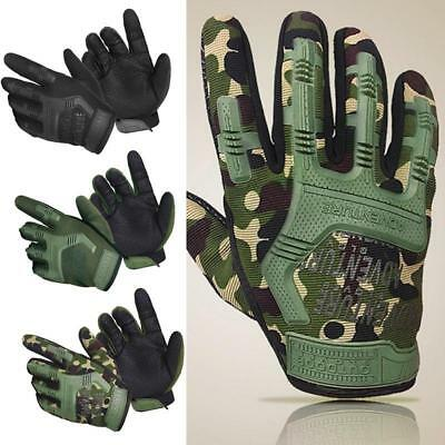 Army Military Tactical Hard Knuckle Full Finger Gloves Hunting Motorcycle Biker