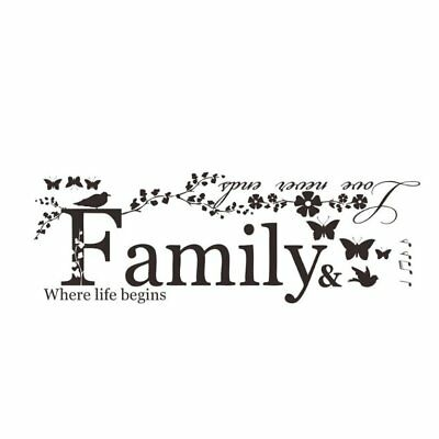 Unique Design Letter Pattern 3D Wallpaper Wall Stickers Self-Adhesive Family M2