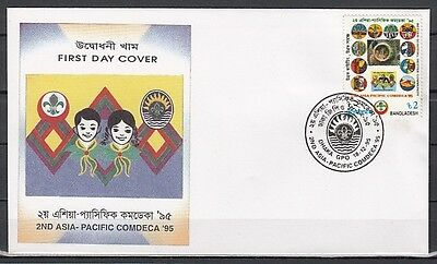 Bangladesh, Scott cat. 501. Asia-Pacific Scout Jamb. issue. First day cover.