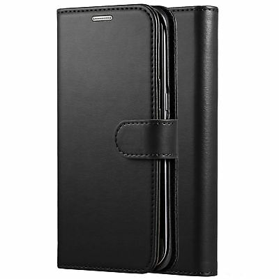 For Samsung Galaxy J3 2018 Book Pouch Cover Case Wallet Leather Phone Black