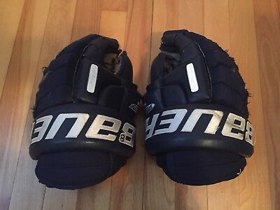 Mike Van Ryn Game Wornused Bauer Hockey Gloves Ahl 4599 Picclick