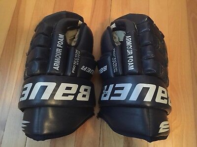 Mike Van Ryn Game Wornused Bauer Hockey Gloves Ahl