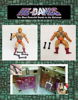 5 x HE-BANDS He-Man MOTU Masters Universe Figure Repair Rubber Leg Connectors