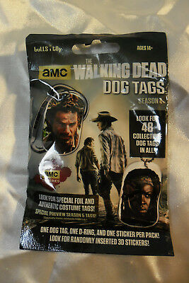 The Walking Dead Season 4 Dog Tag Single Blind Pack - New Unopened