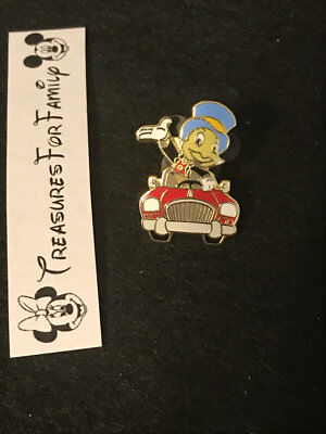Disney Pin DLR AAA Travel Package Pin Jiminy Cricket Red Car Waving FREE SHIP