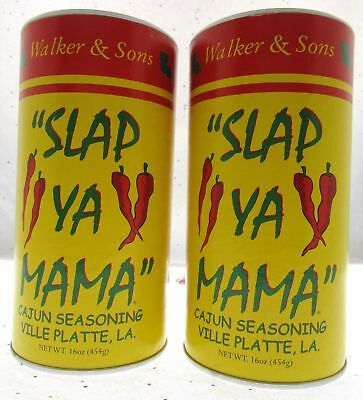 Slap Ya Mama ~ Walker and Sons ~ Original Cajun Seasoning ~ 16 oz ~ Lot of 2 Hot