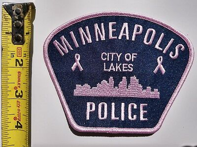 Minneapolis Police Patch Pink Breast Cancer Awareness Month! Skyline - New