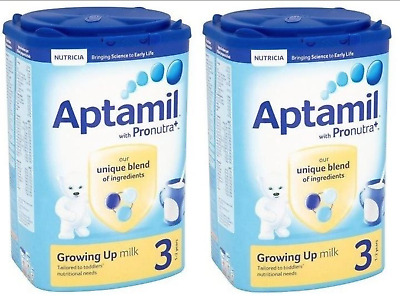 2 X Aptamil Growing Up Milk 3 (1-2 years) 900g