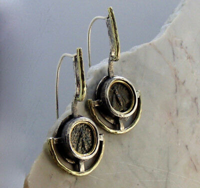 Contemporary Authentic Ancient Greek Queen Bee Coin Earrings