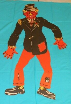 vintage Halloween LARGE JOINTED SCARECROW decoration
